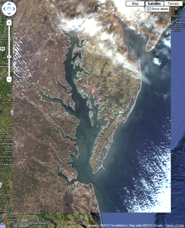 sample Chesapeake Bay satellite image